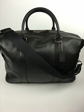 COACH F54765 Voyager Duffle Overnight Travel Gym Men's Leather Black NWT