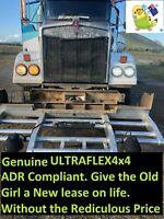 """KENWORTH T610 et al. QUAD CHROME 105W 7"""" LED ADR 46 & 13 Compliant."""