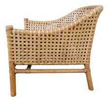 McGuire Furniture Woven Leather & Bamboo Lounge Chair