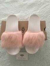 UGG Australia Women's Royale Slide Sandals Pink Fur Size 8 New