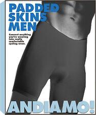 Andiamo Men`s Padded Skins Clothing Shorts Admo Pad Skins Men Bk Lg