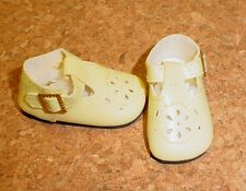 Doll Shoes for YELLOW 44mm T-Straps Ellowyne, Patience & NuMood