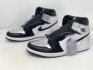 Air Jordan 1 High 'Silver Toe' Black Sneaker, Size 15 BNIB CD0461-001