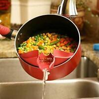 Küchengeräte Gadget Silikon Wasser waschen Reissuppe Trichter Ausgießer Kochwerk