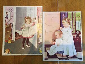 Eloise Wilken Golden Book Press Puzzles playskool 80-8B 80-8A USA Lot HTF