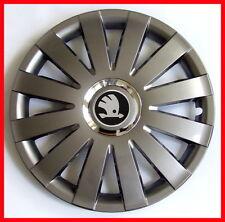 "4 x15"" Wheel trims fit Skoda Roomster Octavia  Fabia Rapid - 15'' graphite"