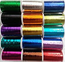 15 Spools of LUREX  High Quality Thread 2500 Mtrs each,15 Colours, Great Quality
