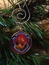 """Harry Potter Gryffindor Crest doublesided Silver 1.25"""" Ornament Pottermore crest"""