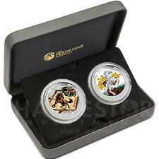 2014 LUNAR GOOD FORTUNE 2-COIN SET SILVER PROOF HORSE SET – TWO-COIN SET