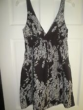 S Amazing Brown and White Print Casual Sun Dress from Old Navy Gt Cond