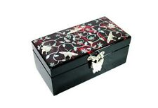 Mulberry Paper Jewellery Box Inlaid with MOP-Butterfly