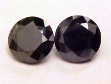 JET BLACK BIG GENUINE DIAMOND PR 6.3 CTW  9.3 MM ROUND ROUTINELY ENHANCED