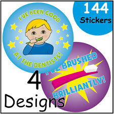 Dental Themed Reward Stickers Dentists Children Teeth Brushing Labels Praise