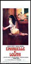 EMANUELLE E LOLITA LOCANDINA CINEMA EROTICO SEXY AFFICHE 1978 PLAYBILL POSTER
