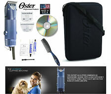 Oster Turbo A5 2 Vitesse Coupe-Ongles 10 & 10 Large Lame , Étui, DVD, Comb-Dog,