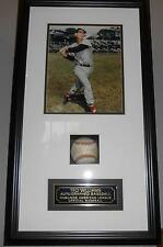 TED WILLIAMS AUTOGRAPHED SIGNED PROFESSIONALLY FRAMED RAWLINGS OFFICIAL BASEBALL