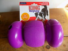 KONG Replay Large Treat Dispensing Rolling Dog Toy, with Auto Rollback