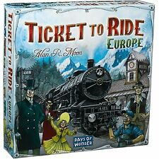 TICKET TO RIDE EUROPE - STANDALONE TRAIN ADVENTURE BOARD GAME 2-5 PLAYERS AGE 8+