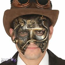 Adults Gothic Victorian Steampunk Mask Pipe Cog Masquerade Fancy Dress Accessory