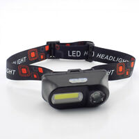 XPE COB LED headlamp USB rechargeable Headlight head light Torch Flashlight18650
