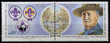 CHILE, WWF, SCOUT BADEN POWELL FAUNA WILDLIFE, MNH STAMPS Sc #623, MICHEL #986-7