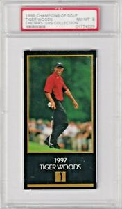 1998 Champions of Golf The Masters Collection - TIGER WOODS - PSA 8 - Rookie RC