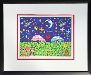 "James Rizzi ""LOVE BUGS"" Orig.Lithografie von 1999, 2D gerahmt! NICHT 3D!"