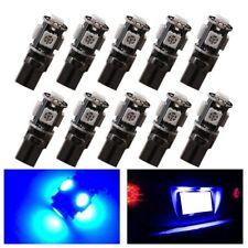 10Pcs Blue T10 194 W5W 5050 5-SMD Canbus Error Free  Car LED License Light Bulbs