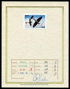 NEVIS 1986 SPITFIRE AIRCRAFT PROGRESSIVE PROOF WW2 1986 $2.50
