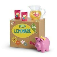 American Girl Bitty Baby Twins Fresh Lemonade Stand Set Piggy Bank Pitcher Glass