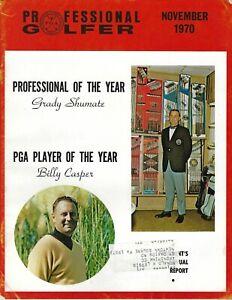 1970 NOV Professional Golfer magazine golf Billy Casper, Grady Shumate GOOD