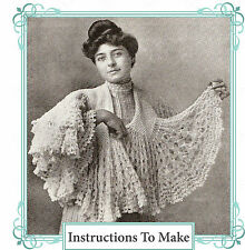 How to make a pretty fluted Downton Abbey,Titanic era,lace shawl-crochet pattern