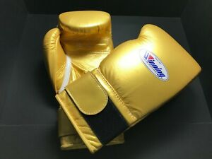 Winning Boxing gloves MS-600B 16oz Gold from JAPAN Fast shipping FedEx tracking