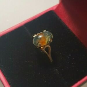 Vintage 9ct gold ring With Stone size L 1/2