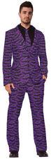 Morris Costumes Men's Halloween Dress Suit Tie Costume Purple Black XL. FM74806