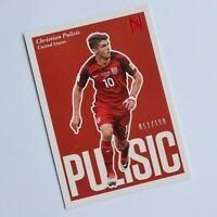Christian Pulisic Panini Nobility Soccer Red 51/199 2017-2018 #100 USA Chelsea