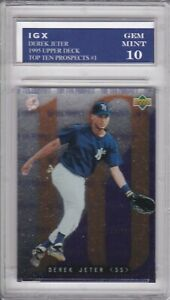 DEREK JETER ROOKIE CARD Upper Deck Baseball NEW YORK YANKEES $$ GEM MINT 10 RC!