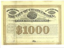 THE CITY OF CHARLESTON (SC) WATER WORKS CO..........1881 SIX PERCENT INCOME BOND