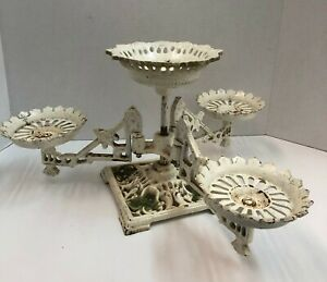 Antique Ornate Cast Iron 3 Swing Arms Victorian Table Oil Lamp Japan holds 4