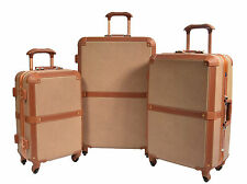 Luggage Suitcase Retro Classic Unique Trunk Lightweight 4 Wheels TSA Lock Bags Full Set Cabin Medium Large