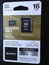 SONY 16GB UHS-I Micro SDHC Class 10 70MB/s, 4hr HD Video