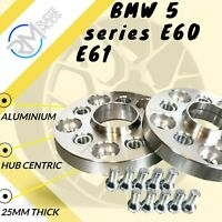 5x120 72.5 25mm Hubcentric Wheels Spacers 1 pair to fit BMW 5 series E60 E61