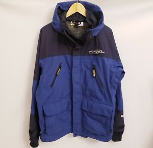 BASS PRO SHOPS Pro Qualifier Gore-Tex Mens Jacket, Hooded Blue and Black Size M
