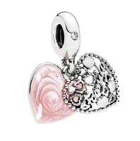 Authentic Pandora Love Makes a Family Pendant Charm Silver S925 ALE 796459EN28