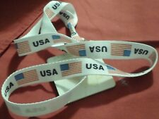 RED, WHITE AND BLUE USA LANYARD