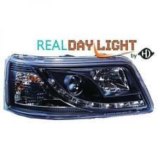 LHD Projector LED DRL Headlights Pair Clear Black For VW T5 Multivan 03-10