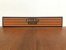 "Rare 21"" Bulleit Frontier Whiskey Rubber Rail Bar Mat Runner"