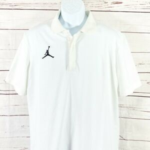 New Nike Air Jordan Jumpman  Dri Fit White Polo Shirt sz XXL $75