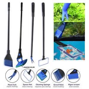 Fish Tank Aquarium Cleaning Kit Glass Brush Fishnet Magnetic Cleaner Tools 5in1