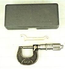 Scherr Tumico 0 1 Micrometer Carbide Tips Machinist Tool Usa